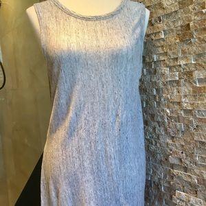 Gray colored linen tunic. Kenar brand.